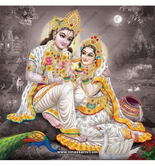 Radha Krishna painting 6064