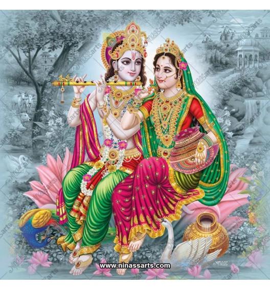 Radha Krishna painting 6066