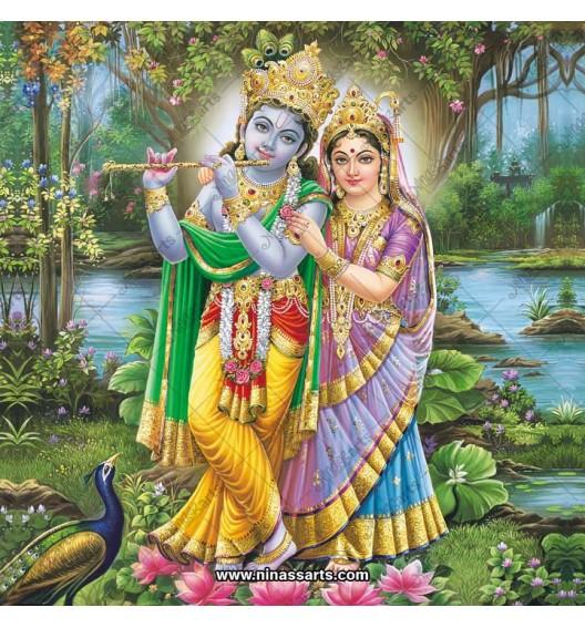 Radha Krishna painting 6068