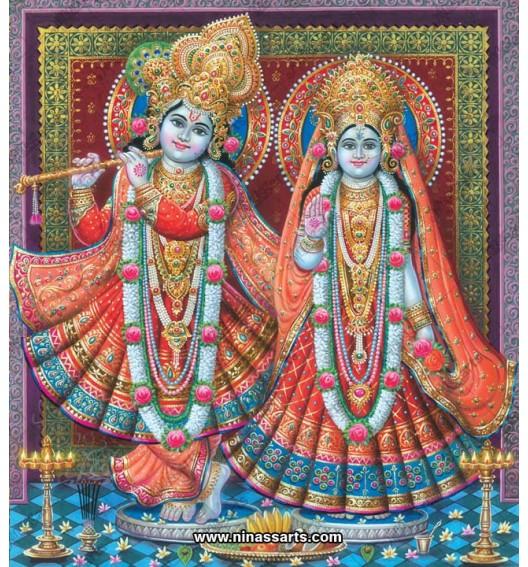 Radha Krishna painting 6074