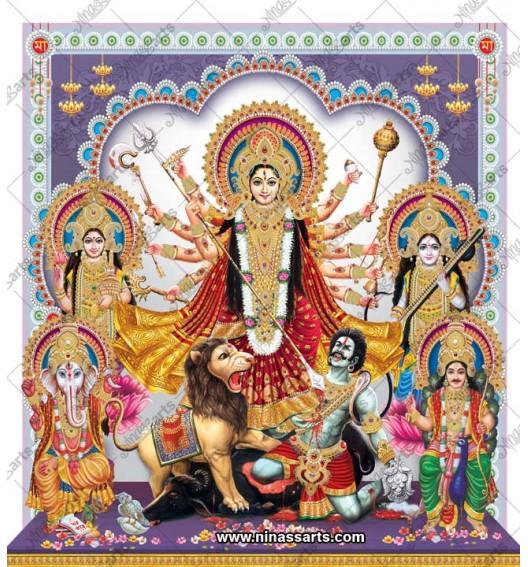 7024 Durga Family