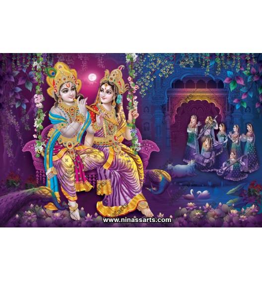 70001 Radhakrishna Poster