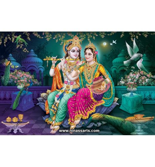 Poster of Krishna and Radha...