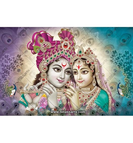 70004 Radhakrishna Poster