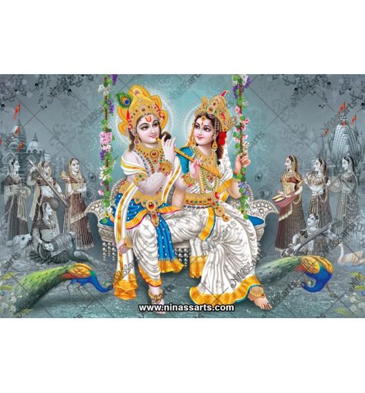 70005 Radhakrishna Poster