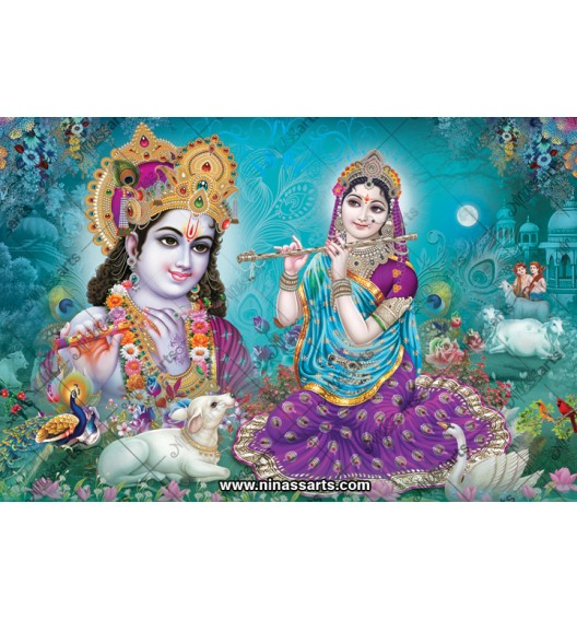 70006 Radhakrishna Poster