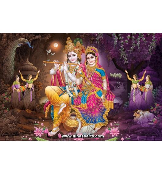 70007 Radhakrishna Poster