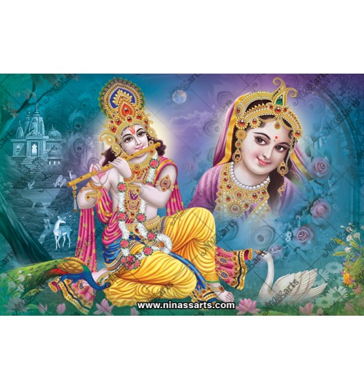 70011 Radhakrishna Poster