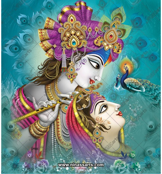 Radha Krishna painting 6078