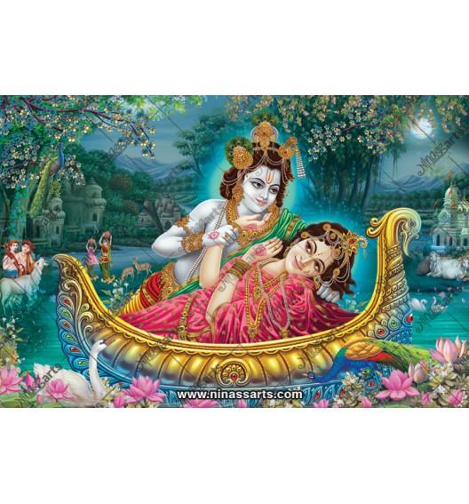70016 Radhakrishna Poster