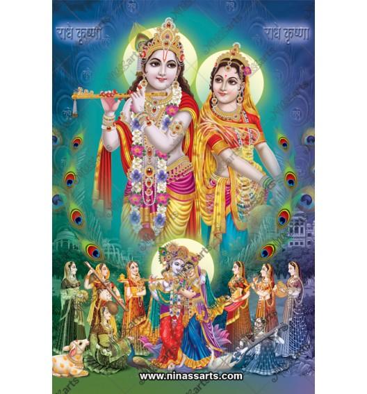 70017 Radhakrishna Poster