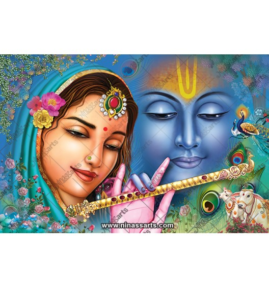 70019 Radhakrishna Poster
