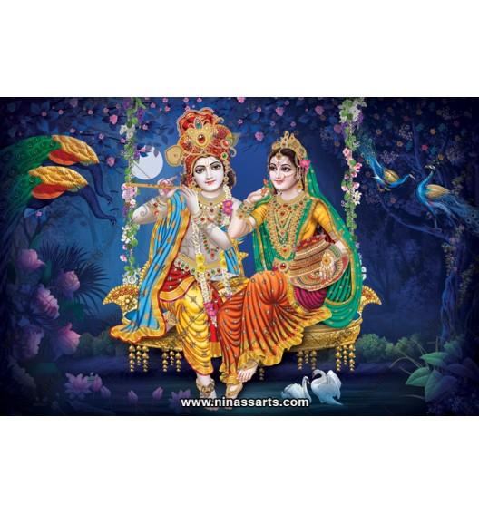 70022 Radhakrishna Poster