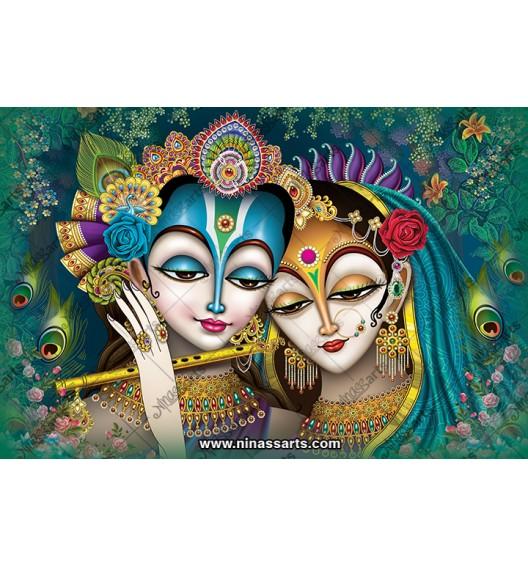 70025 Radhakrishna Poster