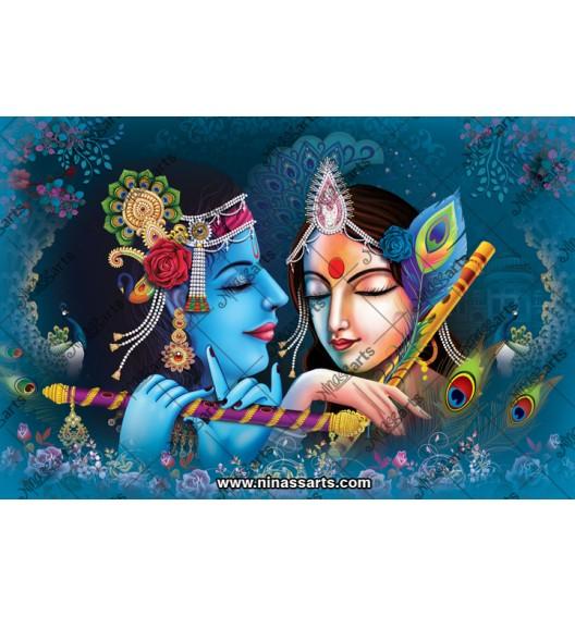 70026 Radhakrishna Poster