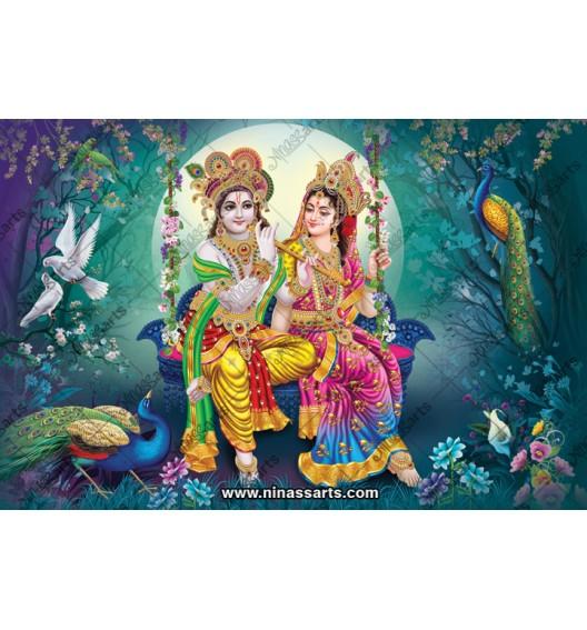 70028 Radhakrishna Poster