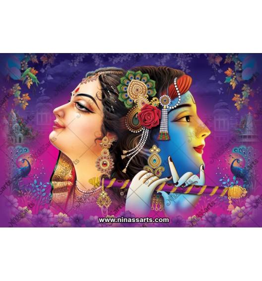 70029 Radhakrishna Poster