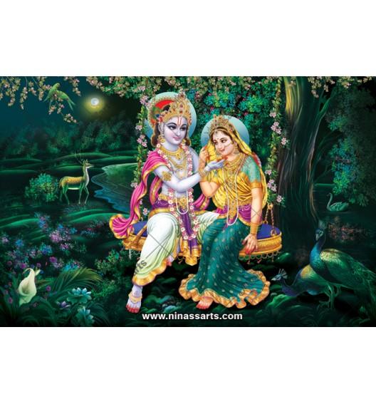 70033 Radhakrishna Poster
