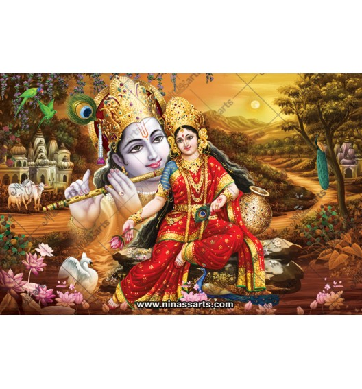70040 Radhakrishna Poster