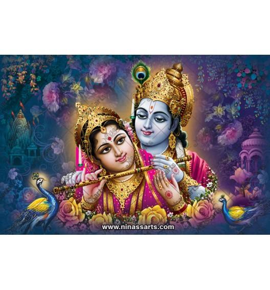 70041 Radhakrishna Poster