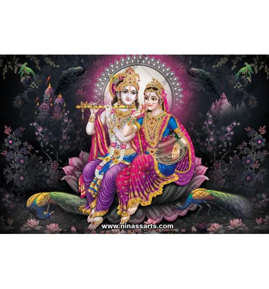 70043 Radhakrishna Poster