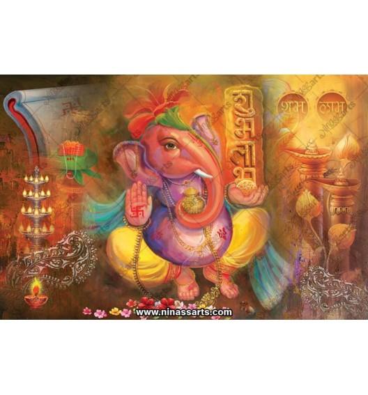 71017 Ganesha Poster