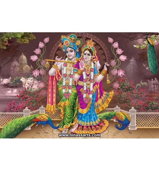 70047 Radhakrishna Poster