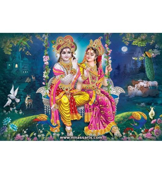 70049 Radhakrishna Poster