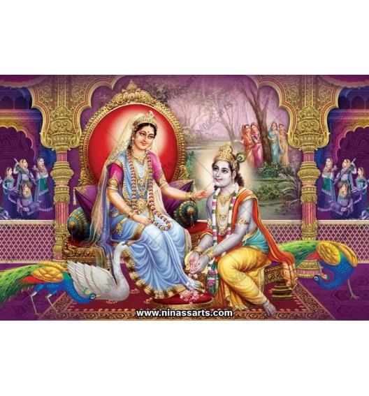 70055 Radhakrishna Poster