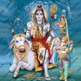 Lord Shiv with his Family Premium High Resolutions Photos